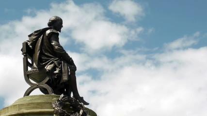 Statue of William Shakespeare.