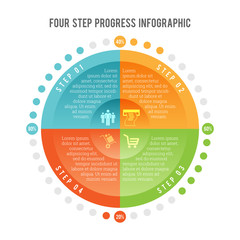 Four Step Progress Infographic