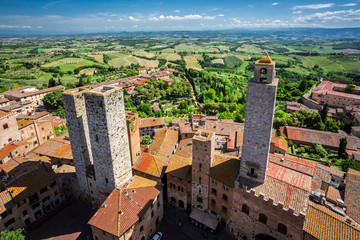 View of the city San Gimignano, Italy