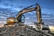 Leinwanddruck Bild - Excavator