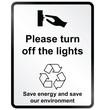 Turn off lights Information Sign