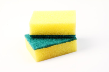 Dish washing sponge isolated