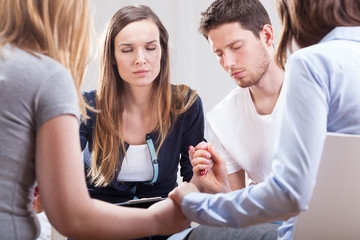 Young people during psychotherapy