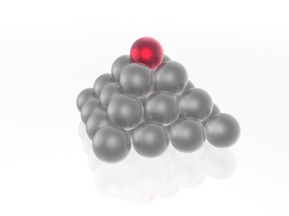 Red and grey spheres