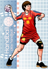Illustration of handball