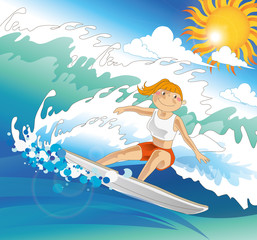 Illustration of Water Sports