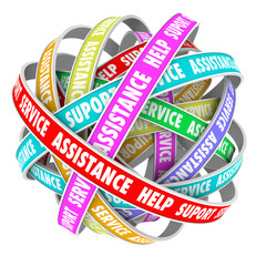 Support Assistance Help Support Endless Cycle Always Available