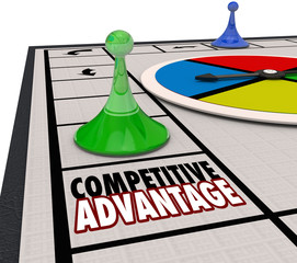 Competitive Advantage Board Game Piece Moving Forward Winner