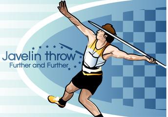 Illustration of the javelin