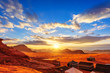 The Valley of the Moon in Wadi Rum, Jordan at sunset - 66122938