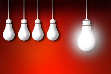 standout idea bulb concept