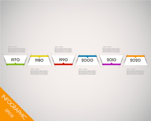 colorful long timeline