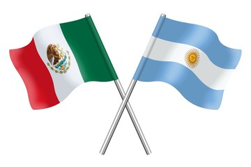 Flags : Argentina and Mexico
