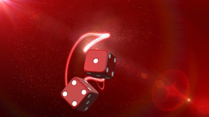 Casino Dice Red Background