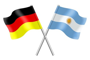 Flags : Germany and Argentina