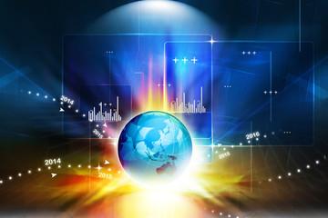 global Stock market graph