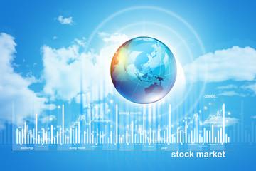 Growing Stock market chart