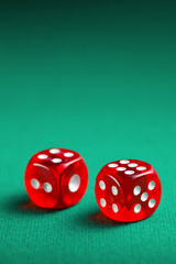 the red casino dice