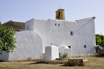 St Gertrudis de Fruitera church in Ibiza