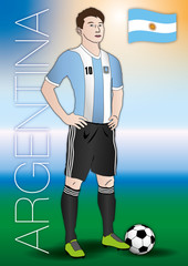 argentina soccer player with uniform