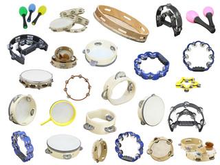 maracas and  tambourines