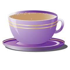 Vector illustration of purple cup