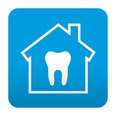 Etiqueta tipo app azul simbolo clinica dental