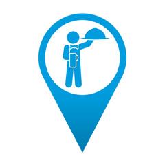Icono localizacion simbolo camarero