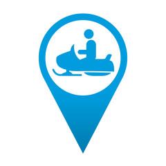 Icono localizacion simbolo moto de nieve