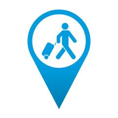 Icono localizacion simbolo viajero