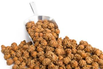 Geröstete Kichererbsen mit Sesam und Honig