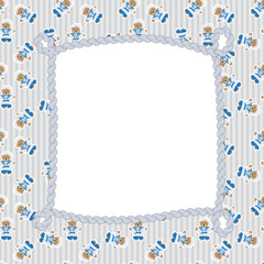 Navy  Bear  Frame