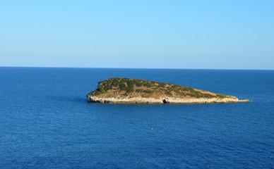 A small island off the coast of Gargano