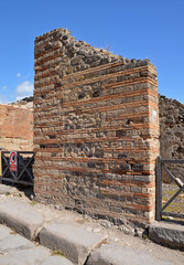 Construction of the ancient walls of the house