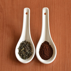 Green tea versus coffee