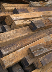 Used railroad ties