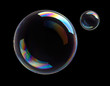 Leinwandbild Motiv 2 Seifenblasen