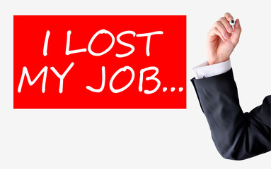 Lost my job text written by a businessman