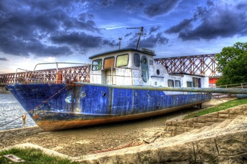 Boat after a flood