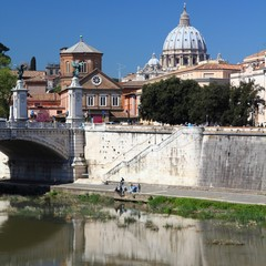 Rome view with Vatican