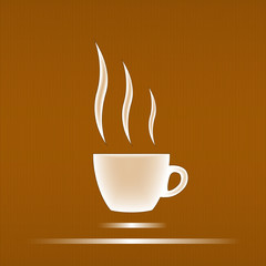 Coffee cup  design for background