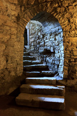 Arch in underground castle
