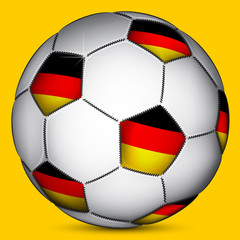 Germany soccer ball, vector