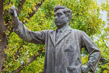 Statue of Noguchi Hideyo at Ueno Park