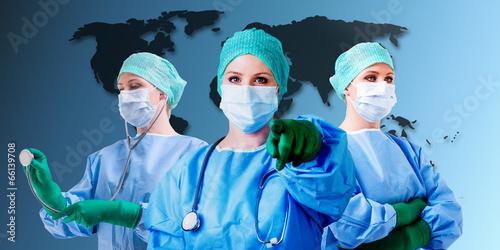 canvas print picture Arzt Welt Gesundheit
