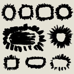 doodle brush template,frame collection