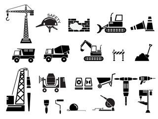 Construction Icon Set Vector Illustration