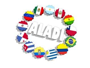 aladi union members flags on gears
