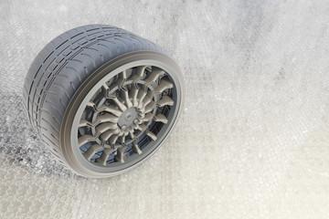 Reifen auf Eis - 3d Render