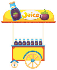 A pushcart selling fruit juice